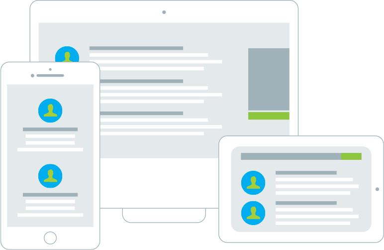 Leandoo Infografik zu responsiven Einsatz auf vielen Endgeräten